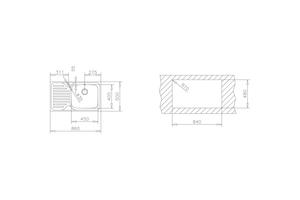 TEKA MOSOGATÓ INOX CLASSIC 86 1B 1D (45) MAX JOBB